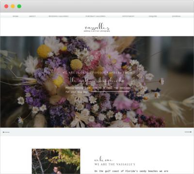 Showit template design mockup for wedding photographers perfect for wordpress blog