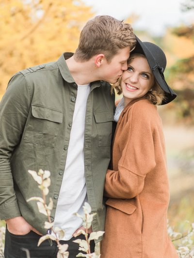 Red Deer Engagement Photo