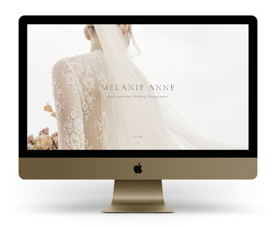 Showit Website Design Mock Up for Melanie Anne Photography, a Fort Lauderdale wedding photographer
