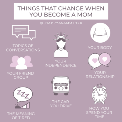 Things that change when you become a mom