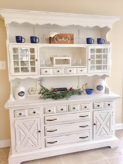 Tara Marie Photography chalk paint furniture hutch