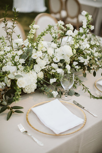 wedding tent tablescapes