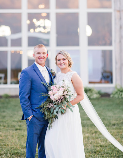 Elizabeth Hill Photography Rustic Pink and Navy Barn Wedding North Carolina_-189