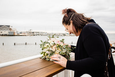 Toms River Wedding Photographer working | Brant Beach Yacht Club New Jersey