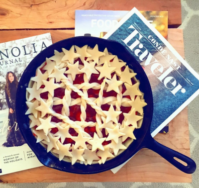 Cast Iron Cherry Pie