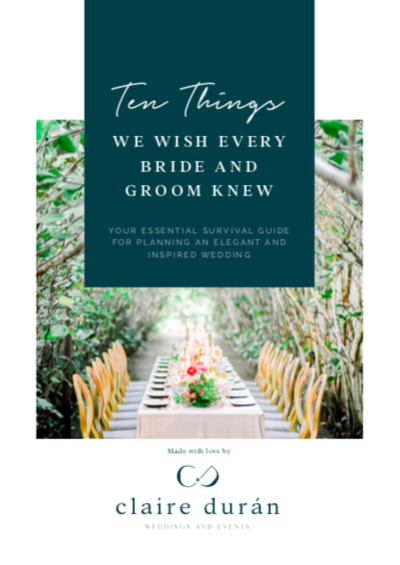 Claire Duran Weddings & Events Guidebook Free