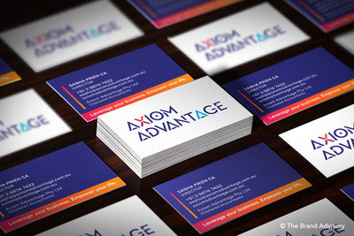 Axiom Advantage Business Card by The Brand Advisory