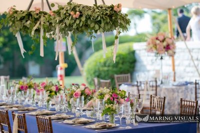 Tented wedding at The Branford House