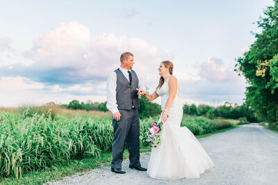 Bride and groom portraits at Rustic Hidden Hollow Wedding