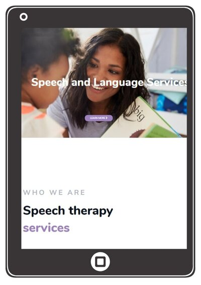 language to learning speech therapy website