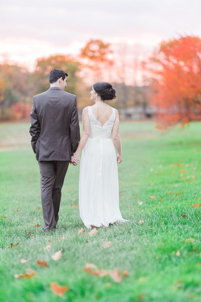 historic new england sunset fall wedding