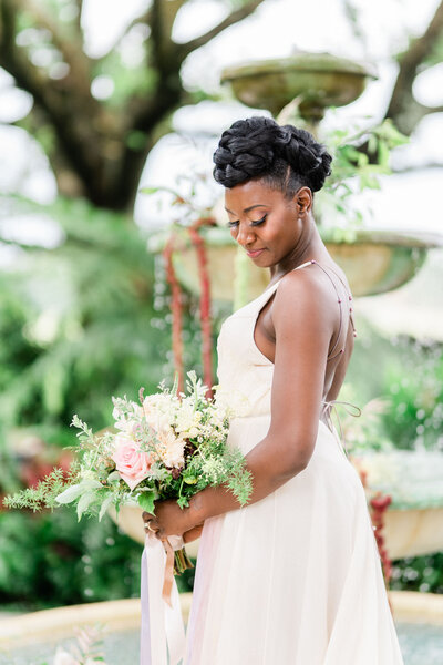 natural afro haired bride in orlando