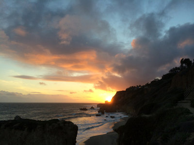 Malibu coast sunset photo, iphone photo