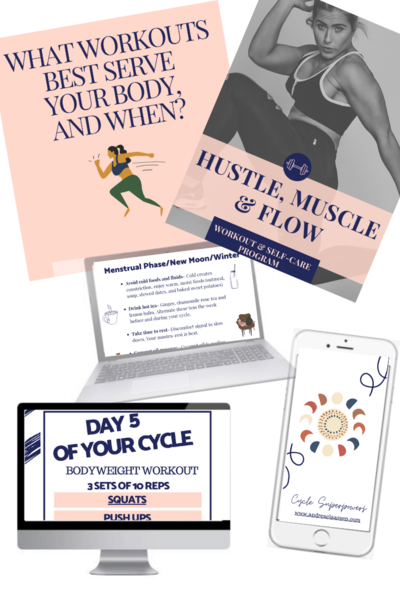 A screenshot of what is inside the hustle, muscle & flow program