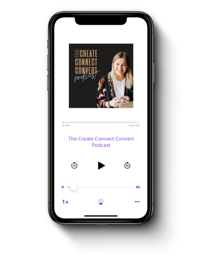 Create Connect Convert Podcast Mockup iPhone