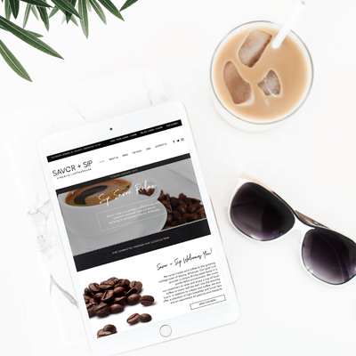Savor +Sip website by Tribble Design Co.