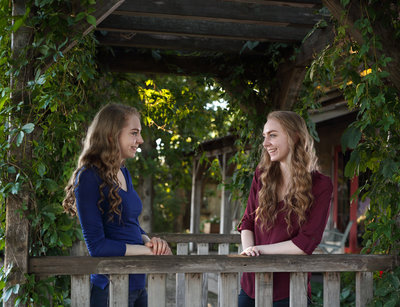 Senior Portraits of twin girls