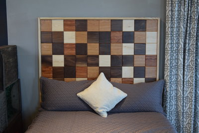 Mid-century head board by Sam Rouse Furniture