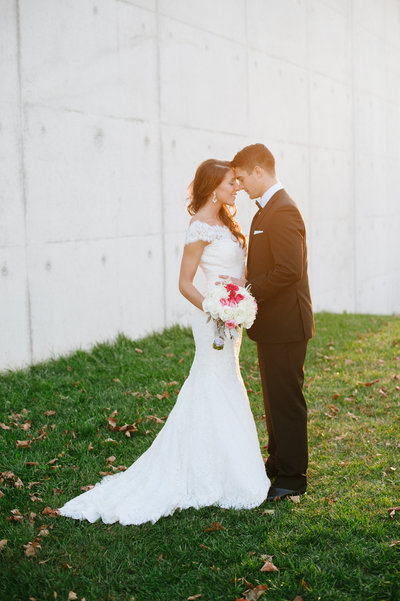 romantic majic hour wedding photo at a liberty house wedding in jersey city nj