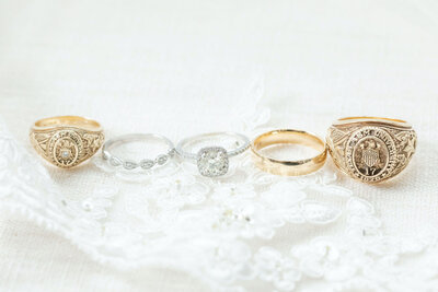 Wedding rings and Aggie rings