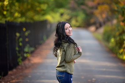 Beautiful park senior session with a high school senior girl in Mendocino County, California