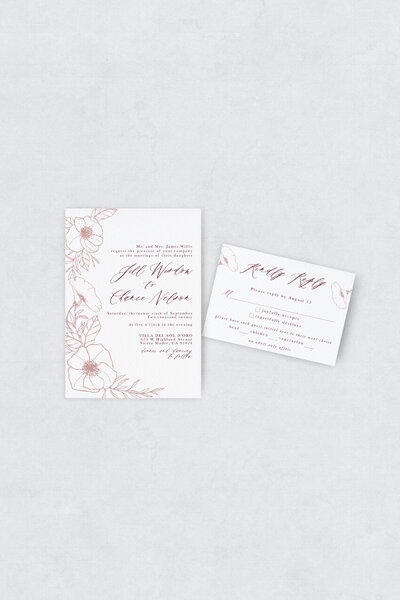 pirouettepaper.com | Wedding Stationery, Signage and Invitations | Pirouette Paper Company | Semi Custom Invitations | The Bloom 08