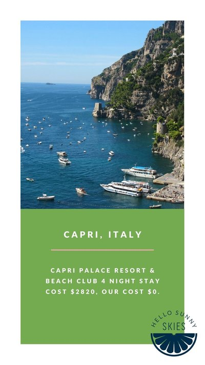 All the details about how to travel for free to Capri.