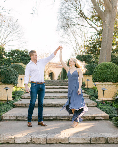 Dallas Arboretum Engagement Photography