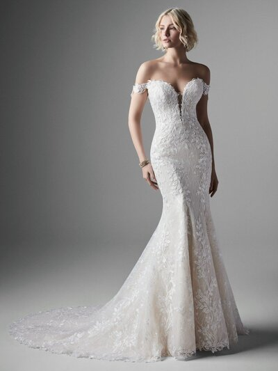 Strapless Mermaid Wedding Dress. Let go of all your preconceived notions of the perfect lace mermaid wedding dress. Say hello to this exceptionally modern statement instead.