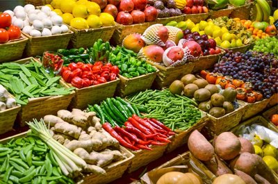 fruit-market-with-various-colorful-fresh-fruits-and-vegetables-picture-id188081154