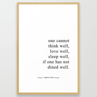 DINE WELL Framed Art Print by thymeishoney   Society6