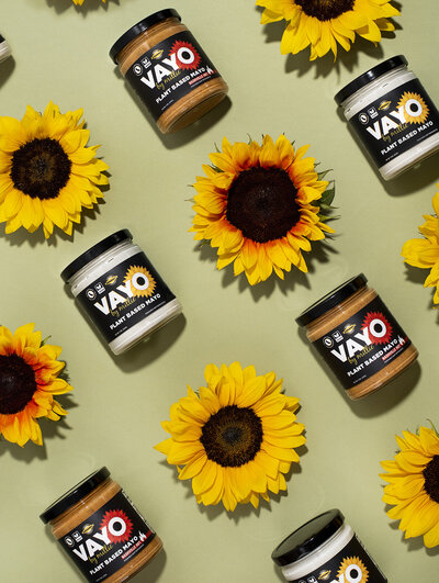 vayo vegan mayo product photography