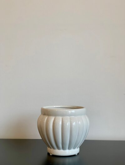 White Ceramic Bisque Bowl