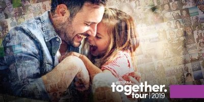 Father and daughter laughing in ad for doTERRA Together Tour 2019 event