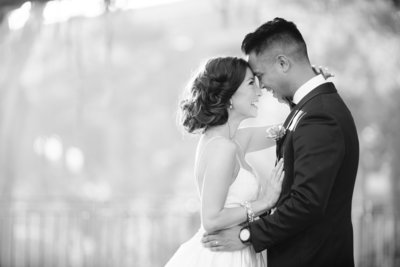 Black and White Wedding Photo California