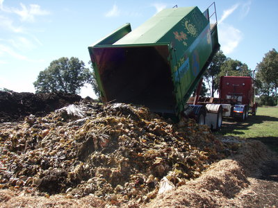 Whole Foods dumping 40,000lbs of rotten food scraps on a bed of pine shavings at Longwood Plantation 2008
