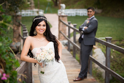 Beautiful bride at Los Willows in San Diego