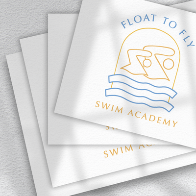 Float to Fly Business Card Mockup