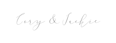 Cory & Jackie Calligraphy Logo Just names