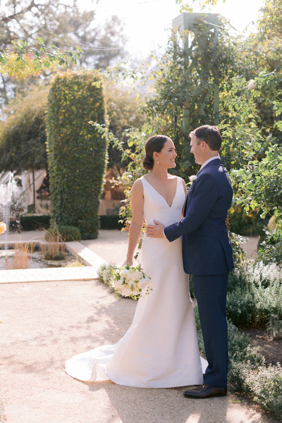 Wedding by Jenny Schneider Events at the Beaulieu Garden in Napa Valley, California. Photo by Lori Paladino Photography.