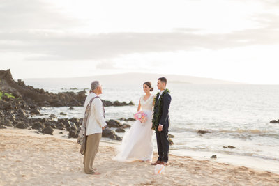 This Maui beach wedding package is for a Maui elopement