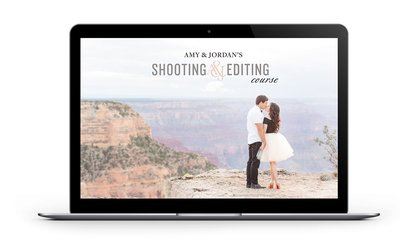 Amy & Jordan's Shooting & Editing Course | Online photography education for portrait and wedding photographers