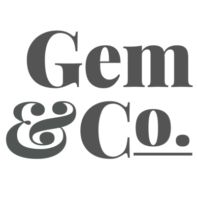Gem Logo Sq Grey Trans PNG