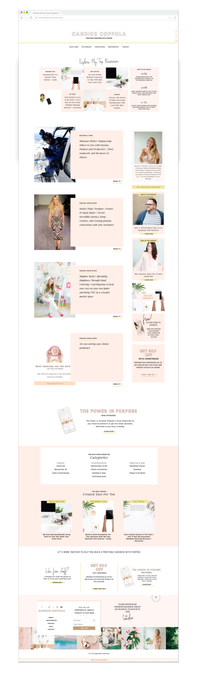 Candice Coopola Website_Elizabeth McCravy Showit Templates