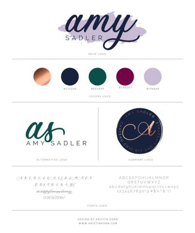 Amy Sadler Brand Board