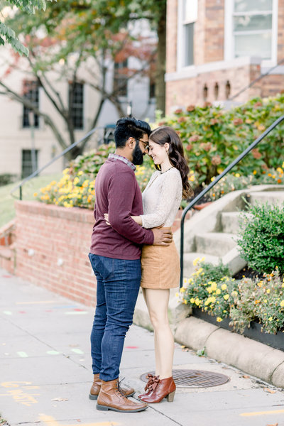 Virginia Wedding Photographer, couple standing forehead to forehead