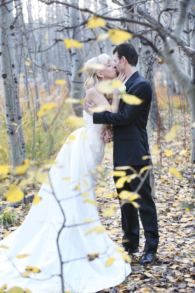 Tahoe Wedding, wedding in aspen trees