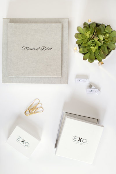 Wedding album, usb and dvd