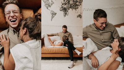 Homebody Lightroom Presets Editing Tutorial Athena and Camron In Home Couple Shoot warm earthy grainy