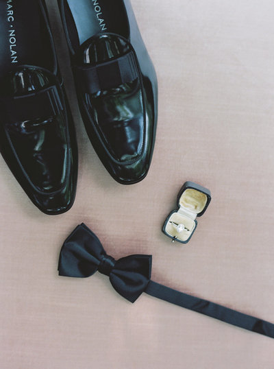Boston Groom's Wedding Details with rings and shoes
